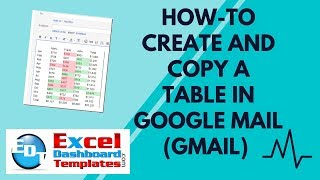 How-to Create and Copy a Table in Google Mail (Gmail) from Excel