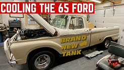 COOLING OFF My 65 Ford F100 And Installing A NEW FUEL TANK