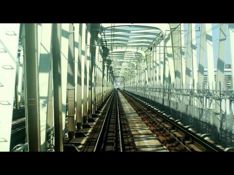 JR Chūō-Sōbu Line (Kankō) driver's view from Mitaka to Tsudanuma in Japan