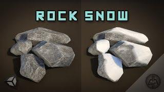 Unity Shader Graph - Rock Moss / Snow Shader Tutorial