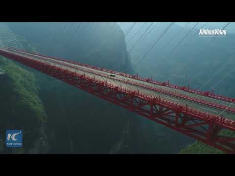 565 meters above the ground! Feel the thrill of driving on world's highest bridge