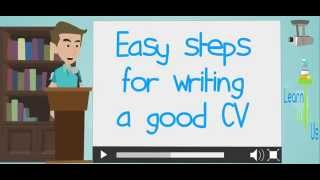 easy steps for writing a good cv
