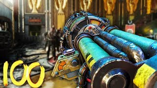 KINO DER TOTEN ROUND 100 SPEEDRUN ATTEMPT! - BLACK OPS 3 ZOMBIES CHRONICLES GAMEPLAY!