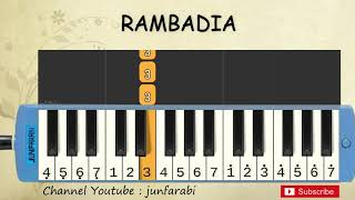 not pianika rambadia - lagu daerah - belajar pianika not angka rambadia