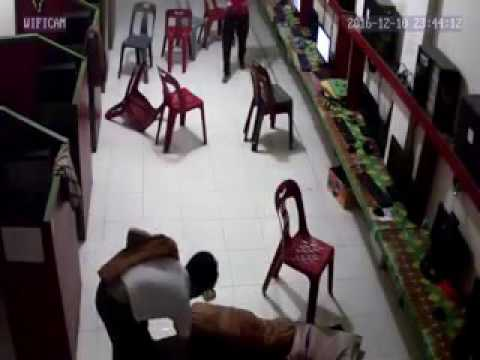 Very funny earthquake recorded cctv