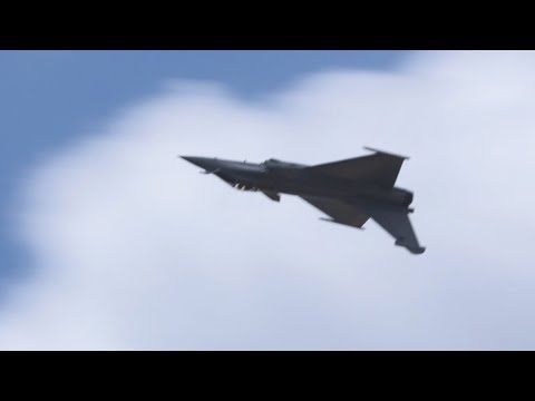 Dassault Rafale Fighter Flying Display at Paris Air Show 2017 - AINtv Express