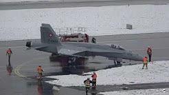Exercice de sécurité sur la base aérienne de Payerne