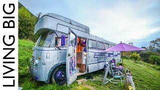 A Bedford House Bus In An Off-The-Grid Upcycled Homestead Kingdom