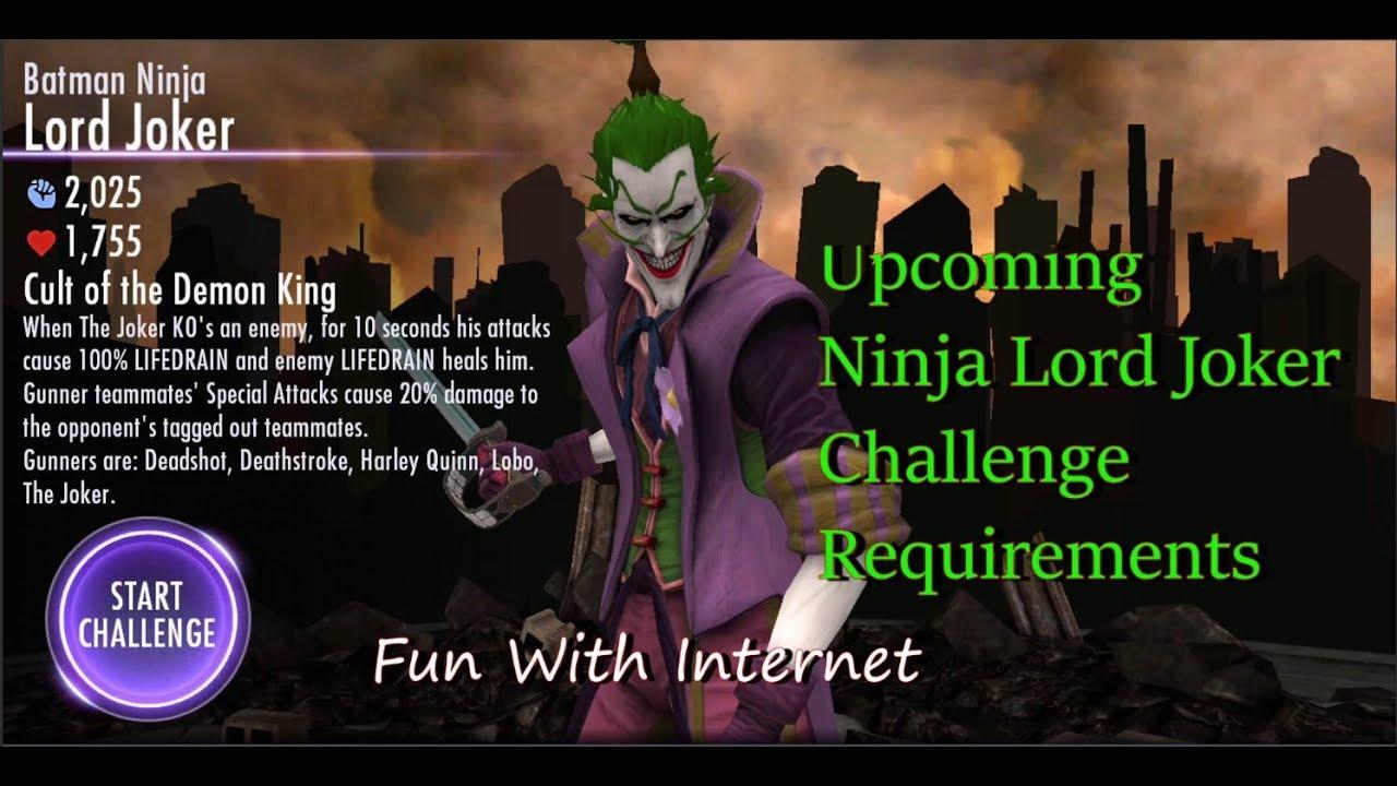 Ninja Lord Joker Challenge Requirements And Boss Gameplay Youtube