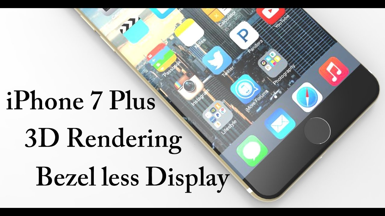 iphone 7 features and specifications iphone 7 plus 3d rendering with frame less design 7917