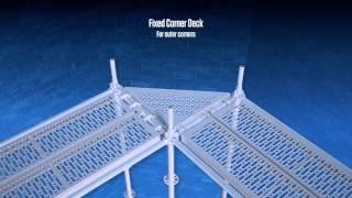 Corner Deck Fixed - Ringscaff Scaffolding, Scafom-rux