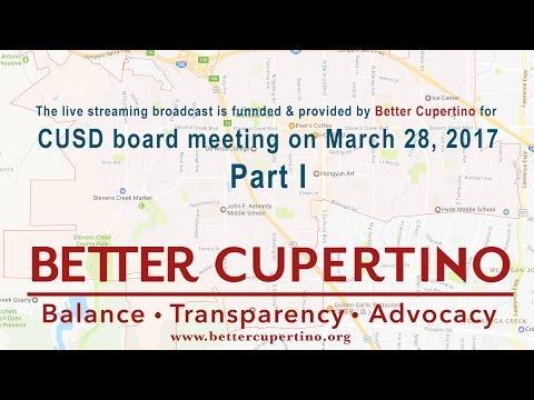 CUSD Board Meeting 03/28/2017, Part 1