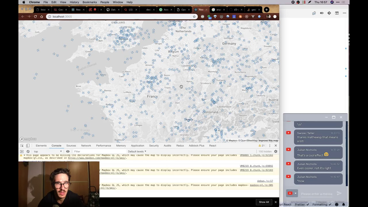 Let's build a real-time WebGL map of all airplanes | React Dataviz