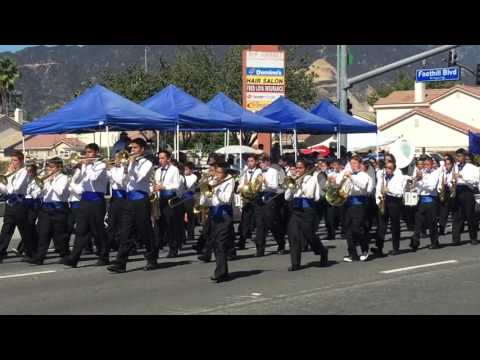Hollencrest middle school band at Azusa golden days parade 2015