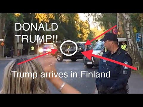 Donald Trump arrives in Helsinki, Finland, Kalastajatorppa 15.7.2018 , Donald Trump saapuu Suomeen!