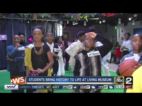 Students take part in living history demonstration at Port Discovery for Martin Luther King Jr. Day