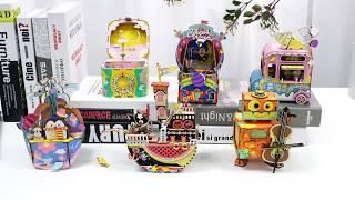 Robotime New arrival music box Series - 3D wooden puzzle