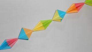 Origami paper garland Гирлянда из бумаги оригами поделки на Новый Год 2018