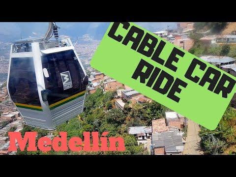 CABLE CAR RIDE IN MEDELLIN, COLOMBIA