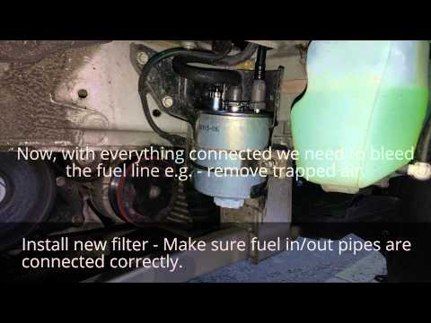 how to change diesel fuel filter