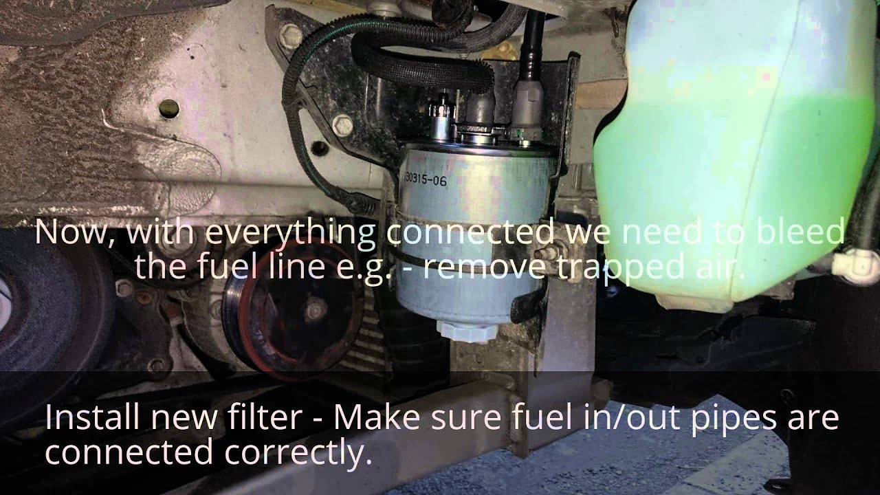 how to change  replace fuel filter on renault laguna 2 0
