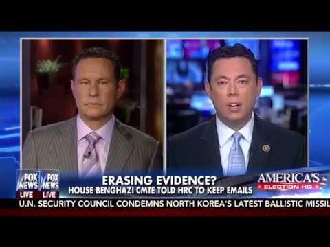 Chaffetz on Clinton destruction of federal records, Fox & Friends, 9/7/16