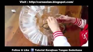 Cara Membuat Lampu Hias Unik Dari Bekas Gelas Botol Aqua