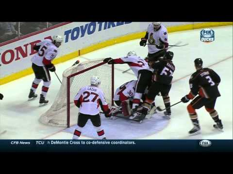 Hammond earns 1st NHL shutout, Senators beat Ducks