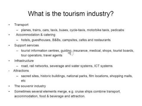 RTTP Unit 1 What is tourism