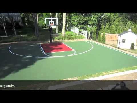 Concrete Basketball Court Youtube
