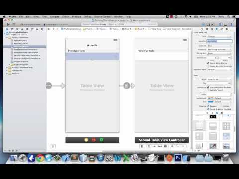 iOS Application Development Tutorial 10: Navigation Controllers and Pushing Table Views