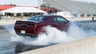 2018 Dodge Challenger SRT Demon Burnouts and Launches