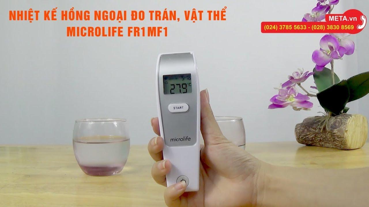 Hướng dẫn cài đặt Nhiệt kế hồng ngoại Microlife FR1MF1 và cách đo nhiệt độ cơ thể, vật thể