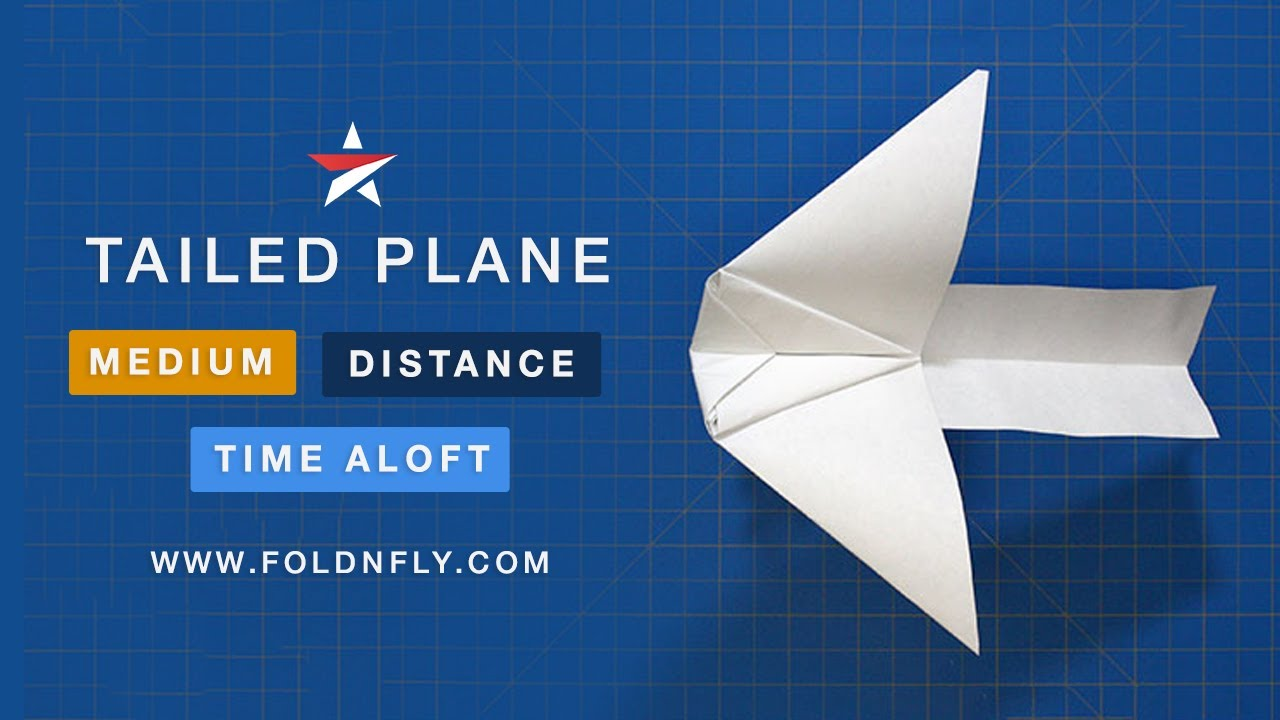 Fold N Fly Tailed Plane