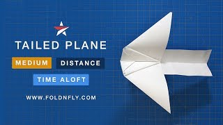 Fold 'N Fly ✈ The Tailed Paper Airplane