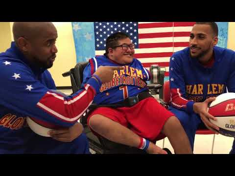 special-olympian-scores-with-his-feet!- -harlem-globetrotters