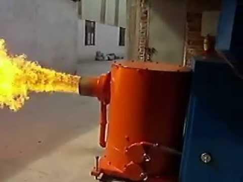 Wood pellet burner MOV  YouTube