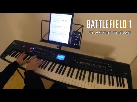 Battlefield Classic Theme - Battlefield 1 + 1942 - Johan Söderqvist - Piano Cover [SHEET MUSIC]