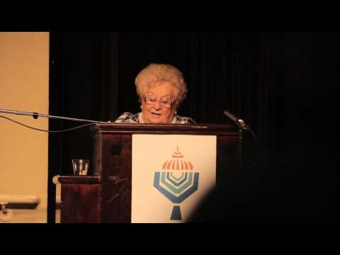 Leah Johnson speaks on surviving Holocaust with Bielski Brothers