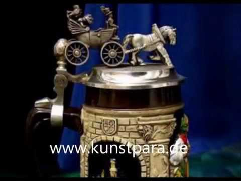 bierkrüge-mit-relief-zinndeckel,-sammlerstücke-made-in-germany-beer-stein-mug.wmv