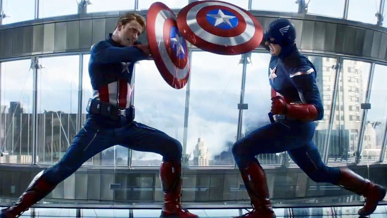 Image result for endgame captain america vs captain america