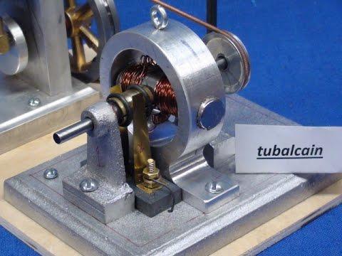 Pt 2 Tubalcain Builds A Model Generator For A Steam Engine