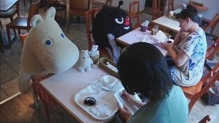 Moomin Café offers lonely Japanese customers stuffed teddies to sit with at lunch