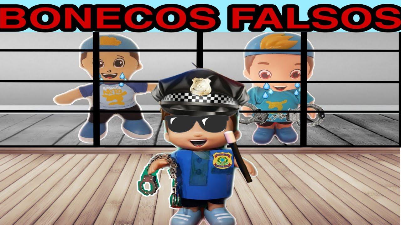 BONECO DO LUCCAS NETO FINGE ser POLICIAL PRENDE BONECOS falsos