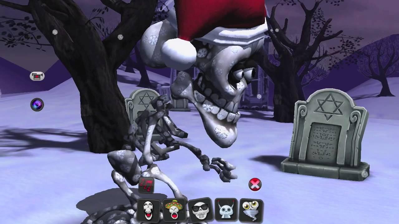 Christmas Skeleton.Talking Skeleton Merry Christmas