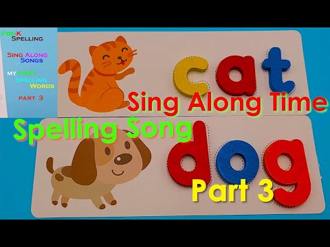 Sing Along Spelling Words, Pre K Learning Resources Musical Activities.. Part 3