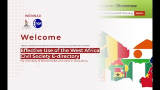 Webinar: Effective Use of the West Africa Civil Society E directory