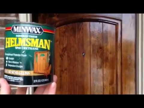 Minwax Helmsman Spar Urethane Exterior Front Door Stain Maintenance