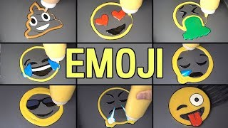 (Compilation) Emoji Pancake Art - Tease ya, Angry, Sleeping, Poop, Heart Eyes, Tear Face, Vomit