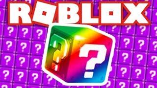 Será que consegui a Lucky Block Rainbow?-Roblox